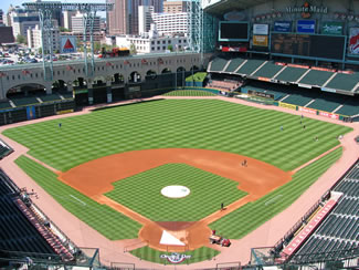 View of Minute Maid field